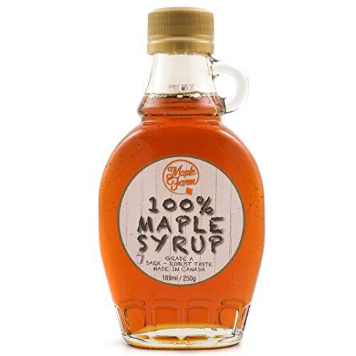 Puro sciroppo d'acero Canadese Grado A - 250g (189ml) - Original maple syrup - Puro succo d'acero