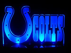 NFL Indianapolis Colts Football LED Desk Lamp Night Light Beer Bar Bedroom Game Room... by Led Sport Logo Signs
