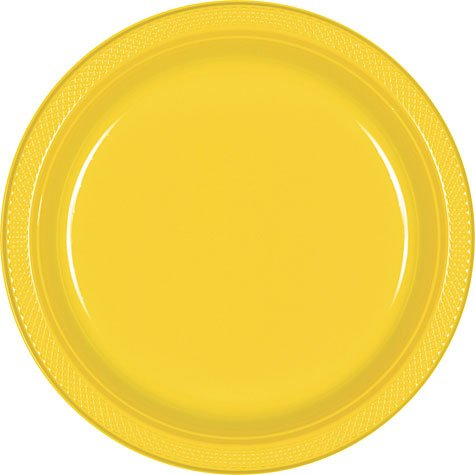 Yellow Dinner Plates 20ct - 1