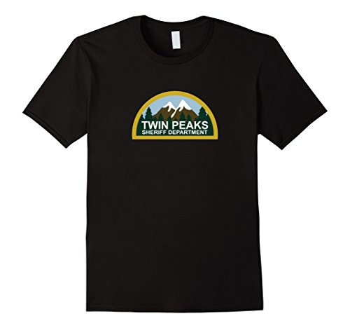 Men's T-WIN PEAKS t shirt Large Black (Twin Peaks Clothes compare prices)