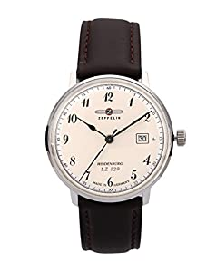 Zeppelin Watches Men's Quartz Watch 7046-4 with Leather Strap