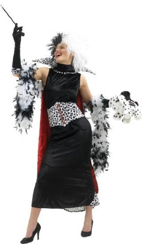 Cruella De Vil Costume - Ladies Size Medium