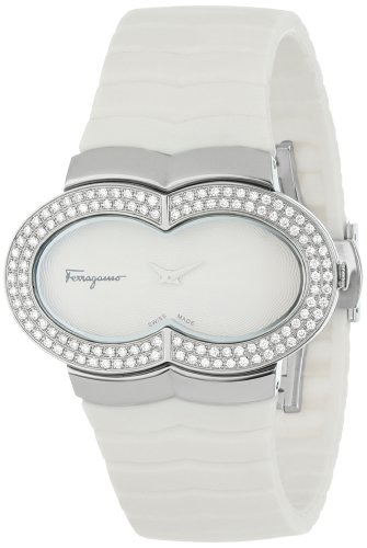 Ferragamo Women's F59SBQ9101 S001 Assoluto White Dial Sapphire Crystal Diamond Watch