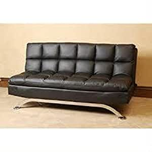 Leather euro style sofa bed lounger couch for European beds for sale