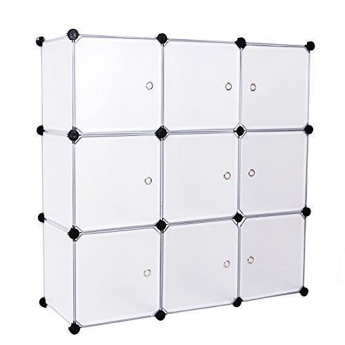 songmics-cubes-etagere-de-rangement-blanc-modulables-112-x-112-x-37-cm-plastiques-cadre-en-metal-lpc