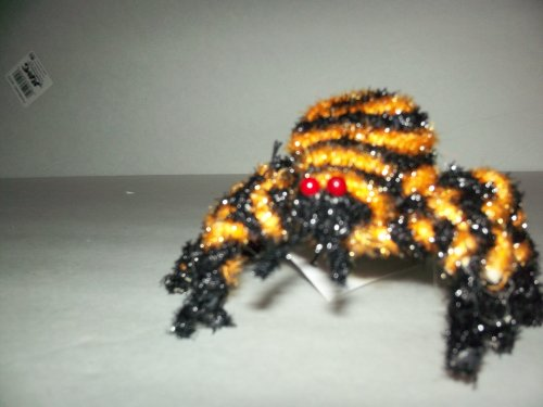 6 Inch Colored Spider Halloween Decoration