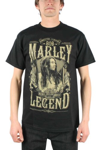 T-Shirt - Bob Marley - Rebel Legend-M Nero