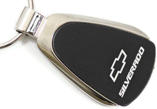 chevy-chevrolet-silverado-schwarz-tropfenform-schlusselanhanger-authentic-logo-schlusselanhanger-sch