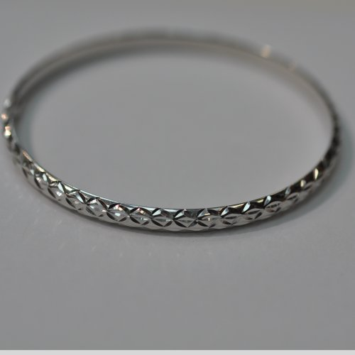 Silver Slip-on Baby Bangle 2