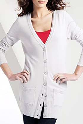 Ribbed Trim Boyfriend Cardigan [T38-5257-S]