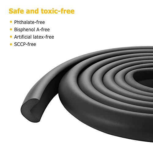 Leewin Baby Safety Protectors & Furniture Bumpers Thick Anti-Collision Cushion Set 15ft Edge and 8 TAPED Corner Guards