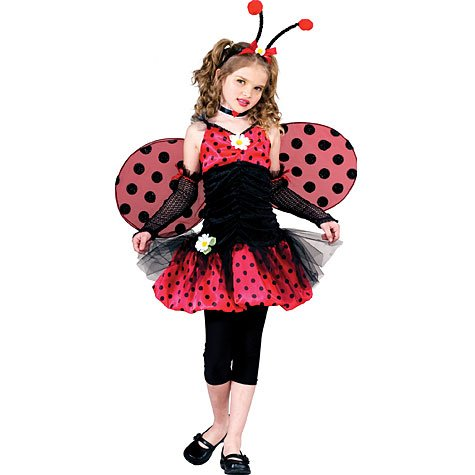 Lady Bug Costume Girl - Child 4-6