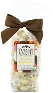 YumEarth Organic Artisanal Candy Drops, Hopscotch Butterscotch, 6 Ounce Pouches (Pack of 6)