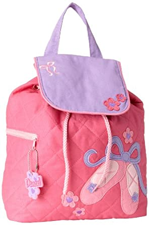 Stephen Joseph Little Girls'  Quilted Backpack, Ballet, One Size