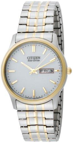 Citizen Men's Eco-Drive Flexible Band Two-Tone Watch #BM8454-93A