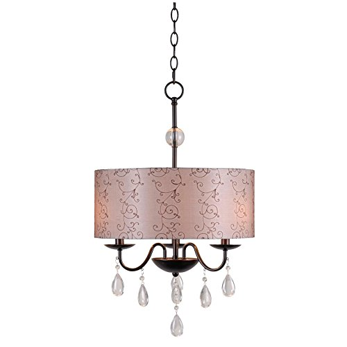 Kenroy Home 91733ORB Arpeggio 3-Light Pendant, Oil Rubbed Bronze Finish