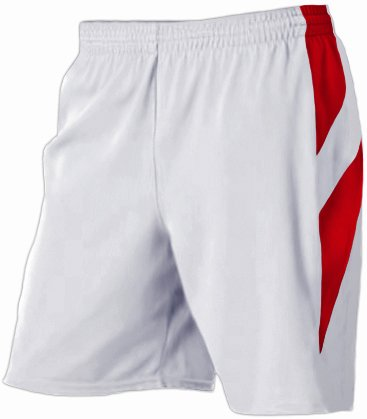 Alleson 539PW Women s Varsity Basketball Shorts WH/SC - WHITE/SCARLET WS