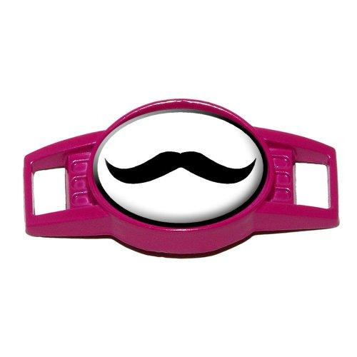 Mustache Funny - Shoe Sneaker Shoelace Charm Decoration - Fuschia