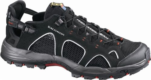 Salomon Men's Techamphibian 3 Shoes Black / Autobahn / Flea