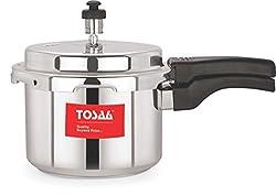 Tosaa Ultra Range Aluminium Pressure Cooker, 3 Litres, Silver