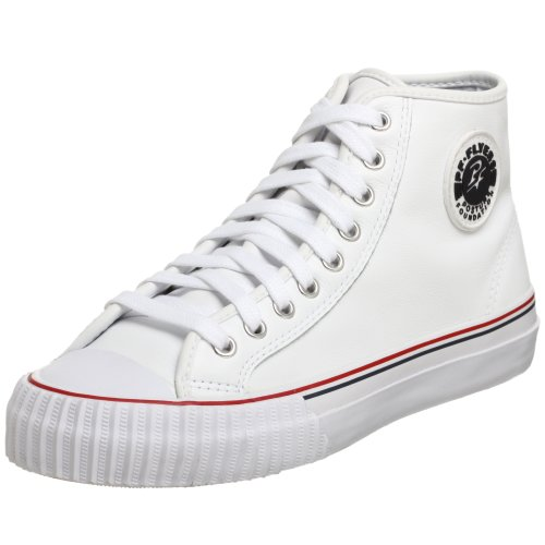 PF Flyers Center High Sneaker,White,Men's 10 M US/Women's 11.5 M US