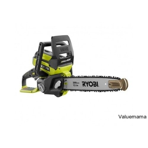 Ryobi - 12 In. 40-Volt Lithium-Ion Cordless Electric Chainsaw With Battery & Charger