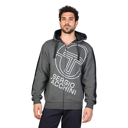 Sergio Tacchini TTG01794, Pullover con Cappellopuccio Uomo, Grey (Ccm_Charcoal), Large