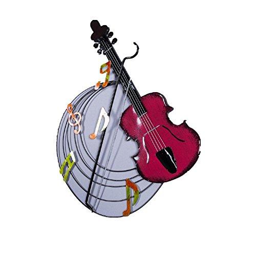 YYH-Moderne-handgemachte-Schmiedeeisen-Wandbehang-Violine-Kunst-Geschenk