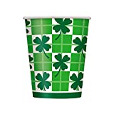 9oz Saint Patrick s Day Clover Check Paper Cups, 8ct