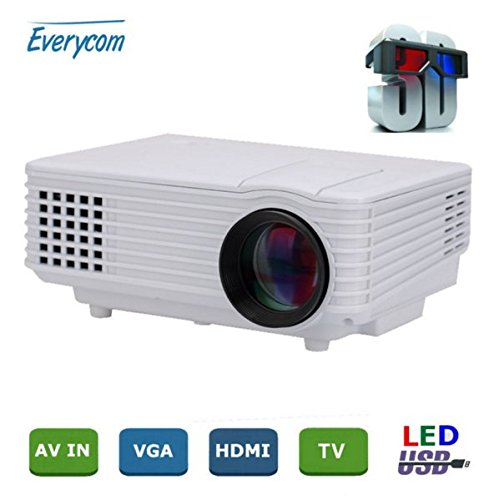 Everycom EC-77 1800 LUMENS LED Projector HDMI USB VGA TV Home Theater