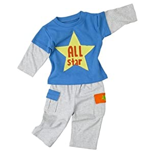 Elegant Baby All Star Sport 2 Piece Boy's Outfit - 12 Mos