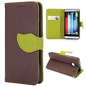 GENERIC Magnetic Buckle Lichee Pattern Design Wallet Style Flip Stand TPU and PU Leather Case for HTC One M7#01820269
