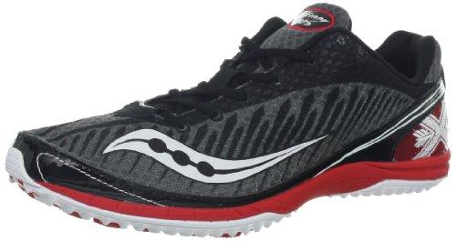 Saucony Men's Kilkenny XC5 Cross-Country Shoe,Black/Red,8.5