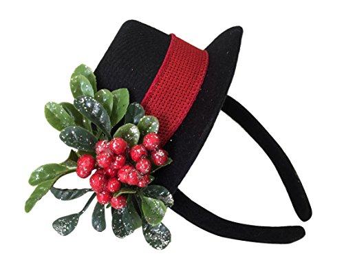 Girls-Snowman-Top-Hat-Headband-Snowman-Costume-Hair-Accessories
