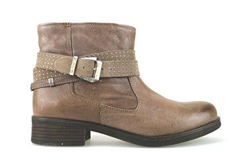 scarpe donna KEYS stivaletti marrone pelle AJ133 (38 EU)