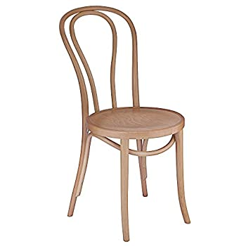 European Bentwood Wood Dining Chairs Natural 2-Pack