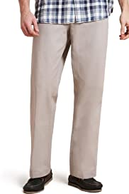Pure Cotton Active Waistband Straight Leg Chinos [T17-6366B-S]