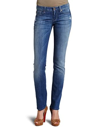 7 For All Mankind Women's Straight Leg Jean With Crystal女士修身牛仔裤$83.03