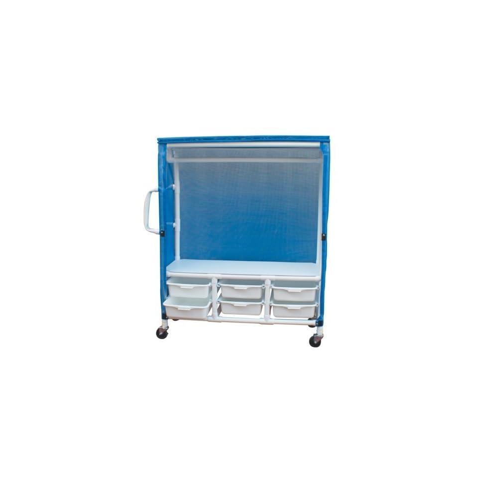 MJM International 345 1C 6T Linen Cart