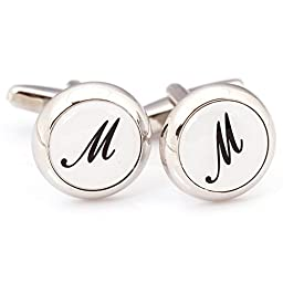 Digabijewelry Initial Cufflinks (Alphabet Letter) by Men\'s Collections