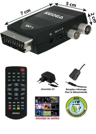 decodeur recepteur adaptateur tnt tv tele television radio sur prise peritel prix avis prix test. Black Bedroom Furniture Sets. Home Design Ideas