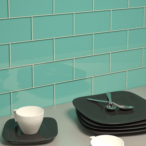 Glass Subway Tile by Giorbello - Teal- Single Tile