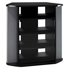 BUSH FURNITURE Bush Furniture Visions Corner TV Stand Black/Silver