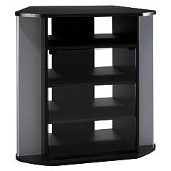 BUSH FURNITURE Bush Furniture Visions Corner TV Stand Black/Silver