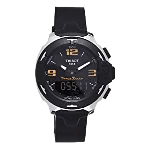 Tissot T-Race Touch Analog Digital Dial Black Synthetic Strap Mens Watch T0814201705700