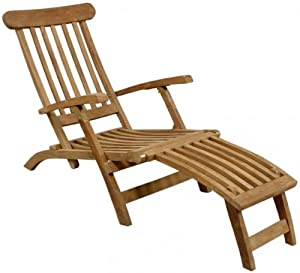 deckchair liegestuhl gartenliege holzliegestuhl massives teakholz. Black Bedroom Furniture Sets. Home Design Ideas