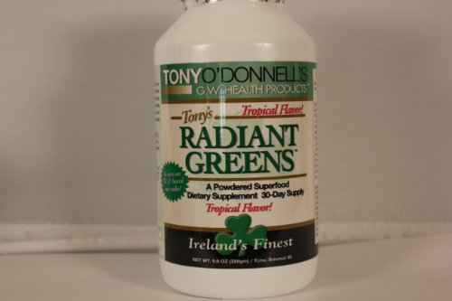 Radiant Greens Tropical By Tony O'Donnell - 9.6 Oz/30 Servings