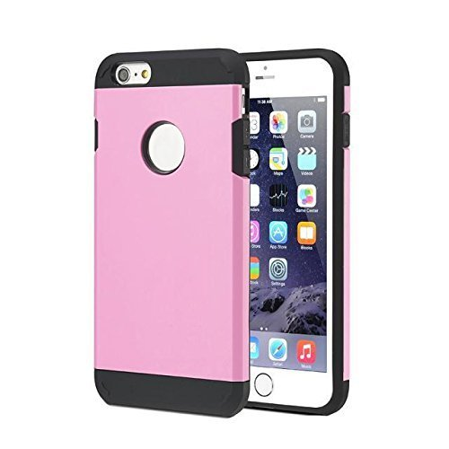 iPhone 6s Case, HotSees Tough Armor Superior Protection Case for iPhone 6 & 6s , Dual Layer Protection, Heavy Duty, 4.7 Inch (Pink)