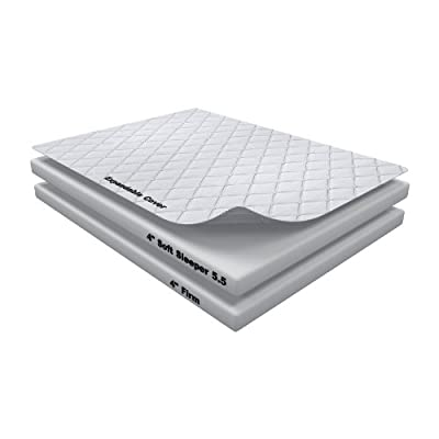 8 Inch Soft Sleeper 5.5 Cal King Mattress With 4 Inches Visco Elastic Memory Foam Plus Memory Foam Pillow Made From 100% Visco Elastic Memory Foam from Soft Sleeper Visco Elastic Memory Foam