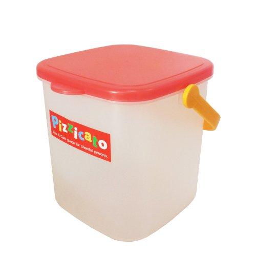 Pizzicato Kids Toy Storage Square Bin with Red Lid - 1